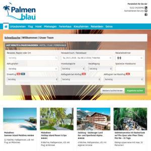 Palmenblau Buchungsportal